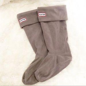 HUNTER Gray Fleece Welly Boot Sock Size M (US 5-7)